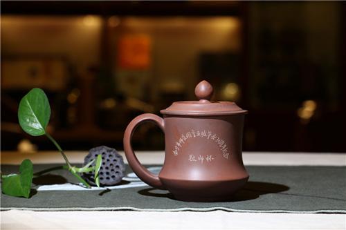 钦州坭兴陶定制杯印LOGO