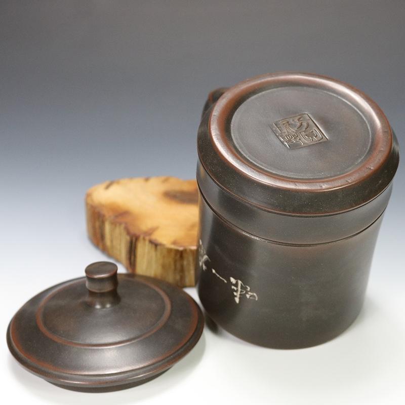 定制坭兴陶水杯,订做坭兴陶杯子