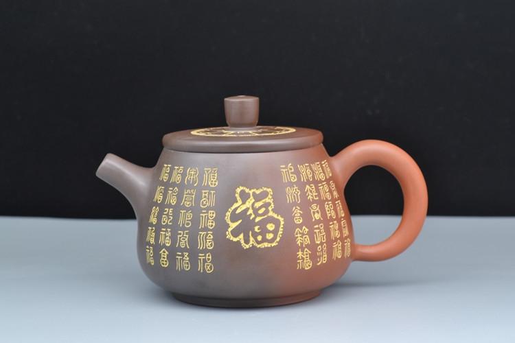 坭兴陶百福壶,钦州坭兴陶民间大师精品
